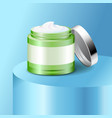 aloe cream plastic jar skin care product vector image