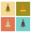 assembly flat icons bell ringer vector image vector image