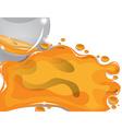 background glass ball crystal ball orange vector image vector image