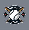 baseball badge logo emblem template team club vector image