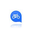 bicycle bike repair service logo icon vector image vector image