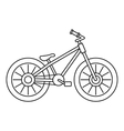Bicycle icon outline style vector image vector image