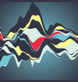 big data visualization streamgraph futuristic vector image vector image