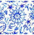 Blue watercolor pattern vector image vector image