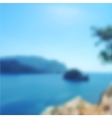 blurred seascape background vector image