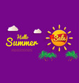 bright flyer hello summer banner sale summer vector image vector image