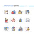 budget - modern line design style icons set vector image