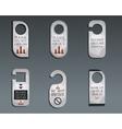 Business management consulting Door knob or hanger vector image vector image