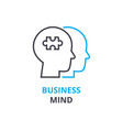 business mind concept outline icon linear sign vector image vector image