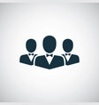 business team icon for web and ui on white vector image vector image