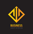 business trend - concept logo design finance icon vector image