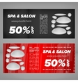 Cards for SPA salon vector image