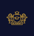 coat of arms academy vector image
