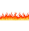 decoration frame with hot burning fire flame sign vector image vector image