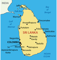 Democratic Socialist Republic of Sri Lanka - map vector image vector image