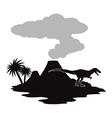 Dinosaur icon design vector image vector image
