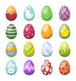 easter eggs flat syle icons isolated on vector image vector image