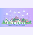 eco-friendly town - modern flat design style vector image vector image