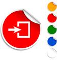 Entrance icon vector image vector image