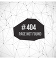 Error 404 Futuristic Wireframe Background vector image vector image