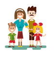 family cartoon flat design vector image