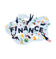 finance system workers successful bankers vector image