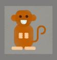flat shading style icon cartoon monkey vector image vector image