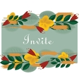 Floral border with foliage flowers for vector image
