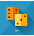 Game with dice in flat design style vector image vector image