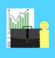 growth of business capital vector image vector image