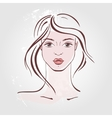 Hand drawn fashion Portrait vector image vector image