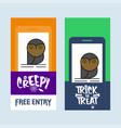 happy halloween invitation design with owl vector image