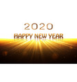 happy new year 2020 banner sunrise background vector image