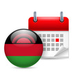 Icon of national day in malawi vector image vector image