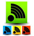 icon with signal shapes in various colors vector image vector image