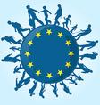 immigration people on european symbol vector image