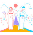 important moment in life as a road japan vector image vector image