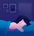 insomnia or sleepless vector image