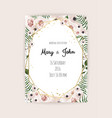 invitation with handmade floral elements vector image vector image