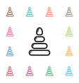 isolated fun icon pyramid element can be vector image
