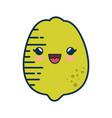 lemon fruit smiley cartoon