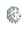 lion logo design art nouveau big cat head vector image vector image