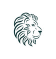 lion logo design art nouveau big cat head with vector image