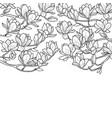 magnolia spring composition vector image