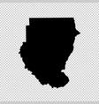 map sudan isolated black on vector image