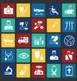 medicine icon set on color squares background vector image