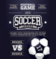 modern professional sports flyer design vector image