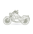 motorbike side view outline graphic vector image vector image