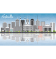 Nashville Skyline with Gray Buildings vector image vector image