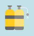 oxygen tank diving equipment icon flat design vector image vector image